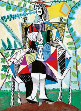 Pablo Picasso's Femme assie dans un jardin, 1938. Oil on canvas. Credit: Courtesy of the Wexner Family.